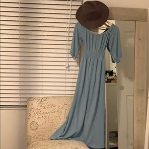 Long dress over the shoulders